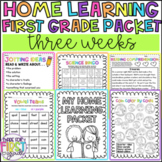 Home Learning Packet 1: First Grade Distance Learning