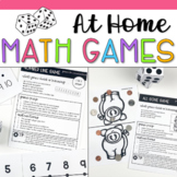 At Home Math Games for Pre-K Distance Learning