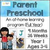 At Home PRESCHOOL Learning Program BUNDLE (Year 1)
