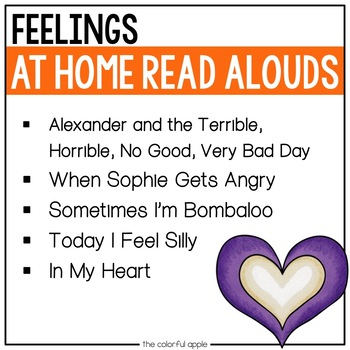 At Home Read Alouds: Feelings