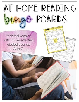 At Home Reading Bingo Boards