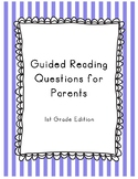 At Home Reading Comprehension Questions - 1st Grade Edition