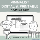 At Home Reading Logs & Labels Editable Templates