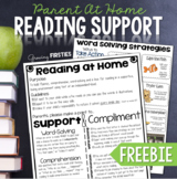 At Home Reading Support for Parents {Freebie}