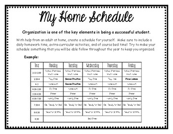 At Home Schedule