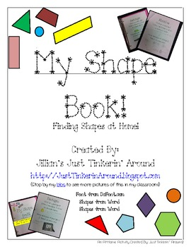 At Home Shape Book: Names, Definitions, and Examples at Home!