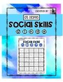 At Home Social Skills Bingo