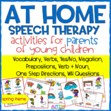 Home Speech Therapy Activities for Parents (Spring Theme) - Distance Learning