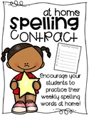 At Home Spelling Contract