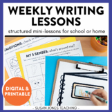 At Home Writing for Distance Learning | Digital and Printa