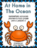 At Home in The Ocean 1st Grade 2014 Supplement Activities Lesson 11