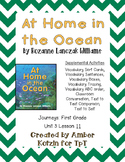 At Home in the Ocean Activities 1st Grade Journeys Unit 3, Lesson 11