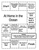 """At Home in the Ocean "" Comprehension Game Board- Journeys story 1st grade"