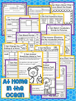 At Home in the Ocean First Grade NO PREP Supplemental Printables