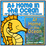Distance Learning At Home in the Ocean First Grade NO PREP Printables