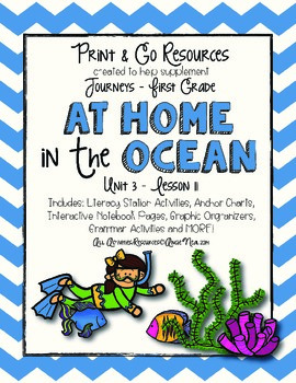 At Home in the Ocean - Journeys First Grade Print and Go
