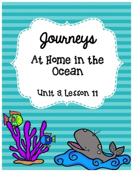 At Home in the Ocean Journeys Lesson 11 Supplemental Materials