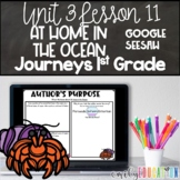 At Home in the Ocean Lesson 11 Journeys 1st Grade Google Seesaw Activities