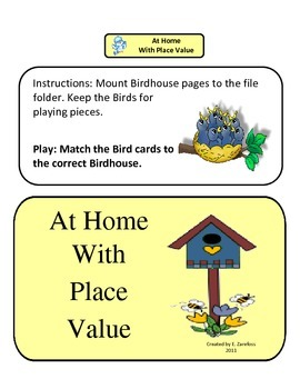 At Home with Place Value: File Folder Activity