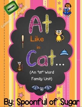 "Word Work for Kindergarten: Word Family ""At"" Like in Cat"