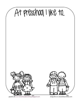 At Preschool ~ An activity sheet for the first day of school!