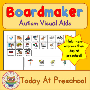 At Preschool Today I...Board and Cards - Boardmaker Visual