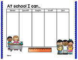 At School 5 Senses Graphic Organizer