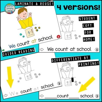 Guided Reading: Level A At School Sight Word Reader and Activity Set!