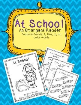 At School {An Emergent Reader}