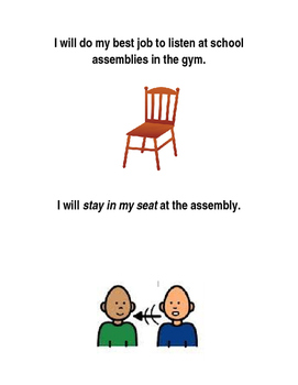 At School Assemblies Social Story