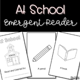 At School Emergent Reader