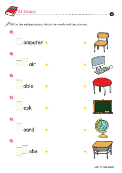 At School : School Rules / Supplies / Subjects *Printables*