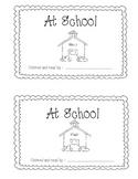 At School beginning reader take home book