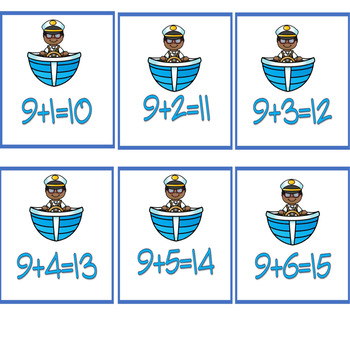 At Sea Theme Addition/Subtraction Math Facts