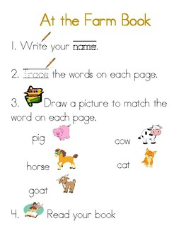 At Sight Word Mini Book FREEBIE!