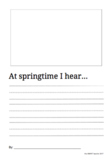 At Springtime I Hear Writing Prompt