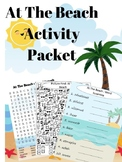 At The Beach Activity Packet