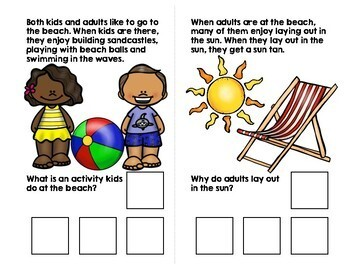 At The Beach Adapted Book (WH Questions)