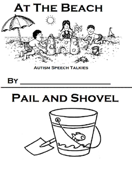 """At The Beach BW Printable Book and """"WH"""" questions (Beach, Speech)"""