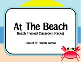 At The Beach - Beach Themed Classroom Packet