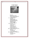At The Beach - (Free - Verse Poem Reading Passage) -  (FREE!)
