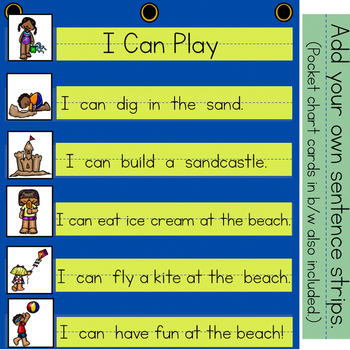 At The Beach:  Interactive Emergent Reader for the Sight Word: CAN