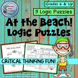 Beach Logic Puzzles Summer Fun