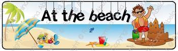 At The Beach Theme Banner