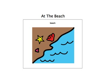 At The Beach Unit-Adaptive Book and more (Autism/Early Language Learners)