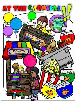 At The Carnival Clipart  (10 FREE Elements Included) Embellish Yourself Artworks