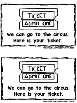 At The Circus  (A Sight Word Emergent Reader and Teacher Lap Book)