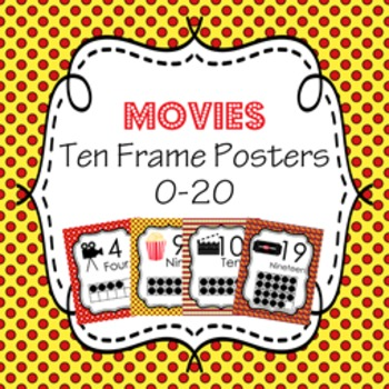 At The Movies Ten Frame Posters - 0 to 20 by Pink Posy Paperie   TpT