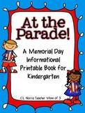 At The Parade Memorial Day Literacy Printable Book Kindergarten