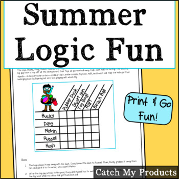 Summer Logic Puzzle for Bright Kids : At the Pool